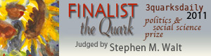 Finalist the Quark - 3quarksdaily 2011 politics & social science prize judged by Stephen M. Walt