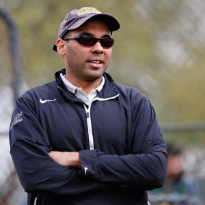 "Zaidi looking decidedly ""baseball coach-ish."""