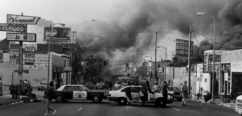 the riots of los angeles An angry crowd gathered in south los angeles saturday after police officers  protesters gather after los angeles police fatally shoot man following.