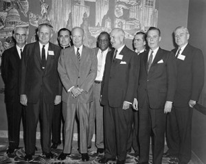 The Commission as of 1954 (from Michigan State University's President's page -- http://president.msu.edu/from-the-presidents-desk/2015/honoring-father-hesburgh.html)