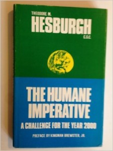 One of the few images available of an early Hesburgh book.