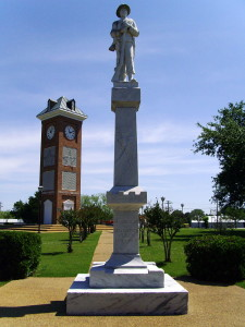 The Star City Confederate Memorial is located at the southwest corner of the town square of Star City, Arkansas. Courtesy of Wikipedia.