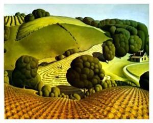 Grant Wood, Young Corn, 1931
