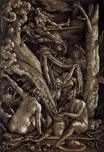 Witches Sabbath. Hans Baldung Grien, 1510.