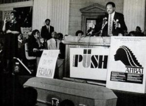 Jesse Jackson with Operation PUSH staff, no exact date.