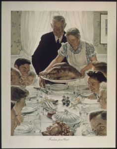 "Norman Rockwell, ""Freedom from Want"" (1943)"