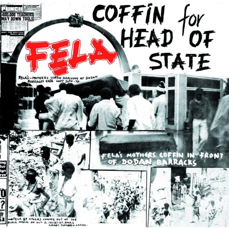 Cover of Fela Kuti's record, Coffin for Head of State